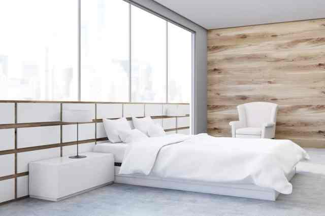 ミニマリストのモダンなベッドルームのアイデア