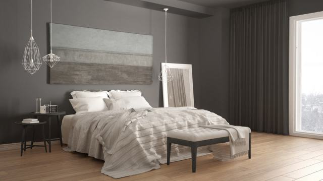 寝室の壁の装飾のアイデアを描く