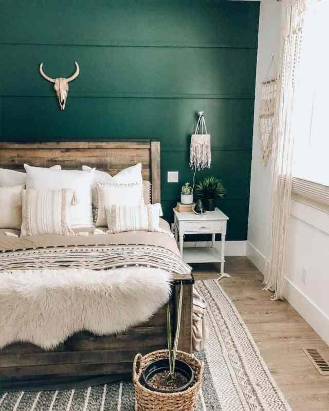 装飾自由奔放に生きるミニマリストの寝室のアイデア