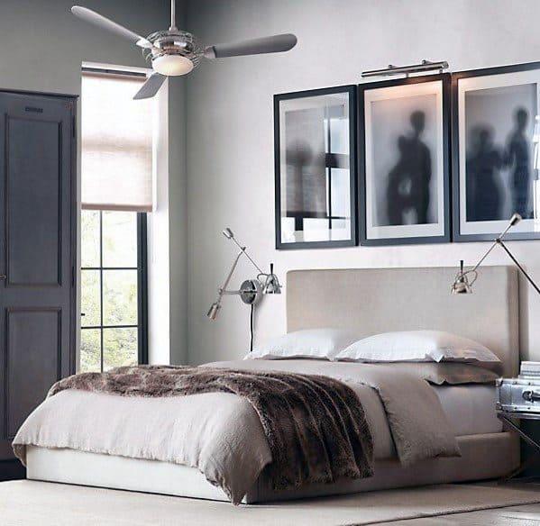 ニュートラルでモダンなベッドルームのアイデア