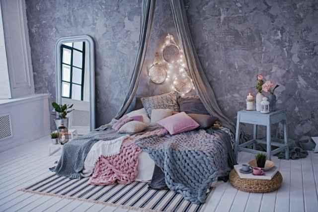 女の子の部屋のロマンチックな寝室のアイデア2