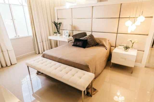 モダンなベッドルームのアイデアの照明