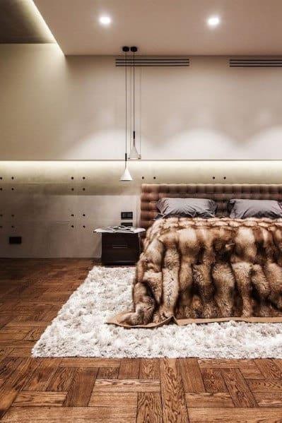 モダンなベッドルームのアイデアを照明