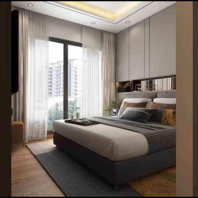 ニュートラルなモダンなベッドルームのアイデア1Shellamuchtar
