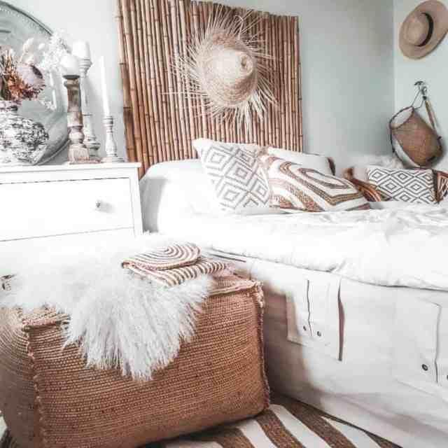 自由奔放に生きる寝室のアイデアのための素朴で自然な装飾boheemimieli