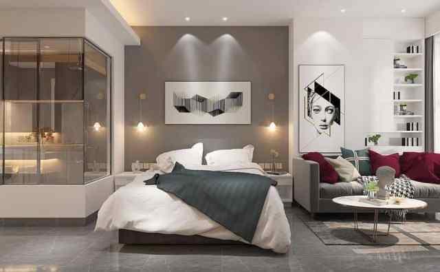 スタイリッシュでモダンなベッドルームのアイデア1