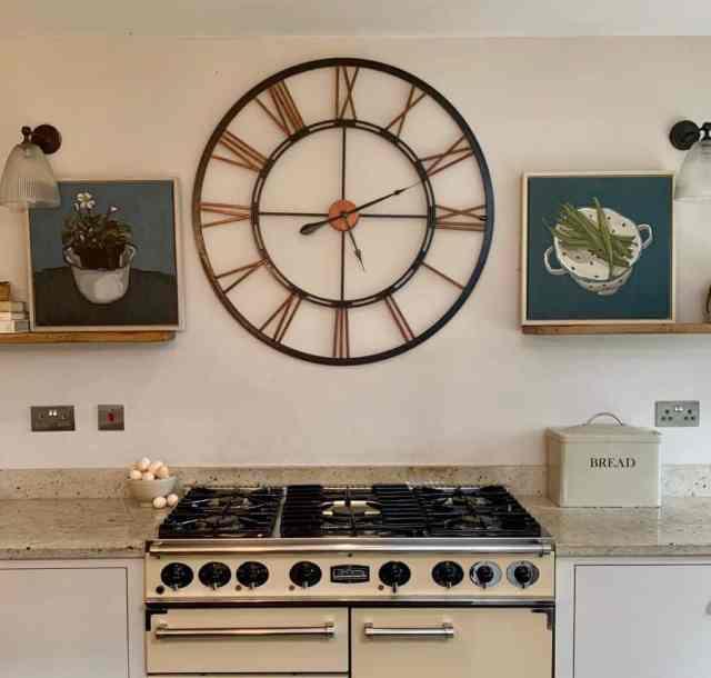 壁掛け時計キッチン壁の装飾のアイデアcarinahaslamgallery