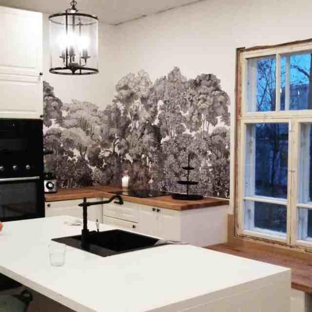 壁紙キッチン壁の装飾のアイデアlounatuulentalo