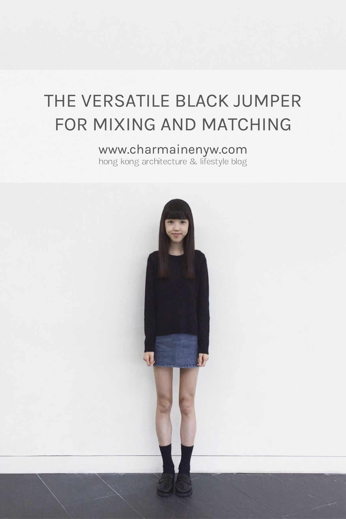 a5174bd71802 The Versatile Black Jumper for Mixing and Matching