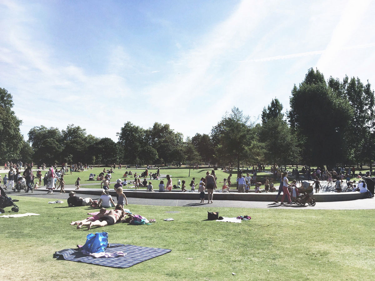 Outdoor parks in London - Hyde Park