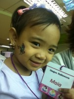 My little girl showing off her Halloween ID :)