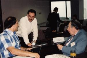 Photo of Robert Tamilia, Brian Jones and Stan Hollander