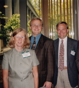 Photo of Peggy Cunningham, Dave Bussiere and Lyle Wetsch at CHARM 1999