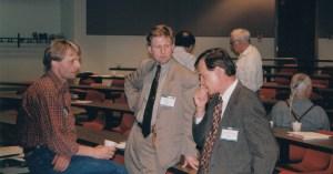Photo of Per Ostergaard, Goran Svennson and Terry Witkowski at CHARM 1999