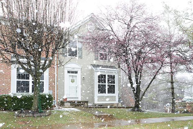 Reisterstown Md main exterior with snow