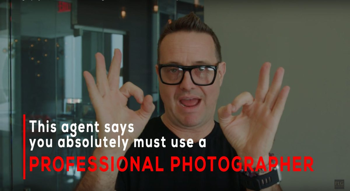 this agent says you absolutely must use a professional photographer