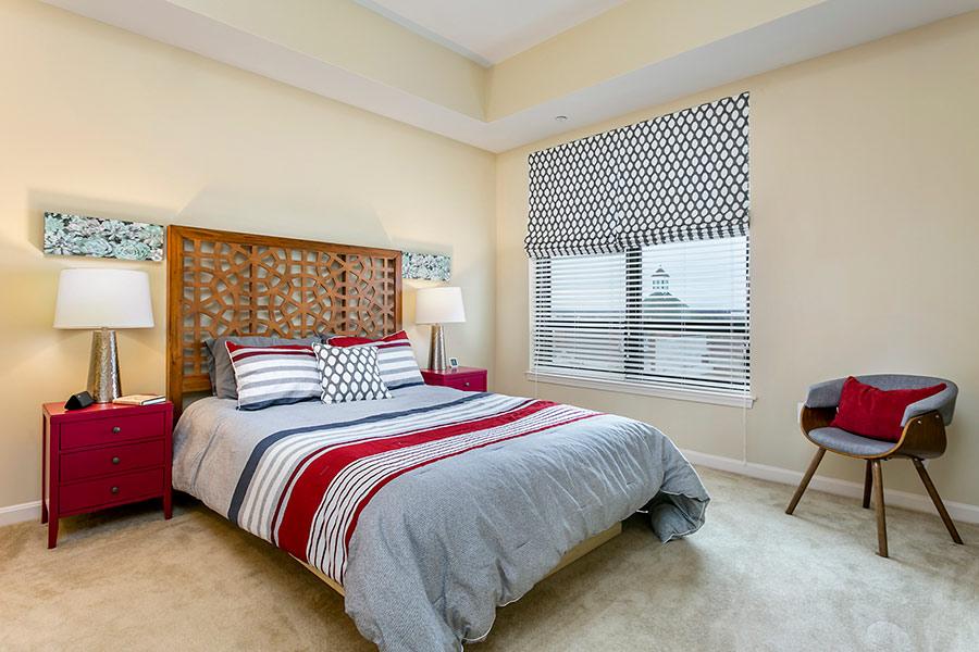 interior designed bedroom in Annapolis, md