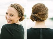 elegant hairstyles braided updo