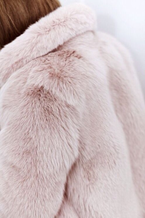 pink fluffy fur