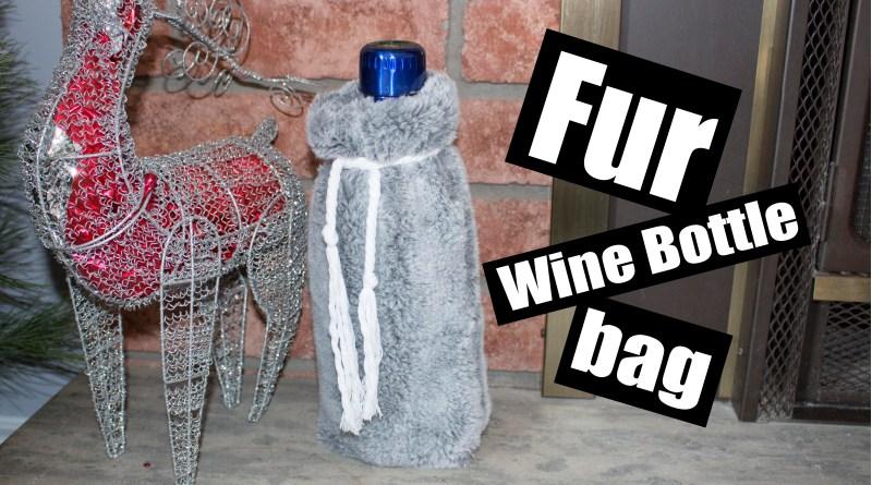 Fur Wine Bottle Holder