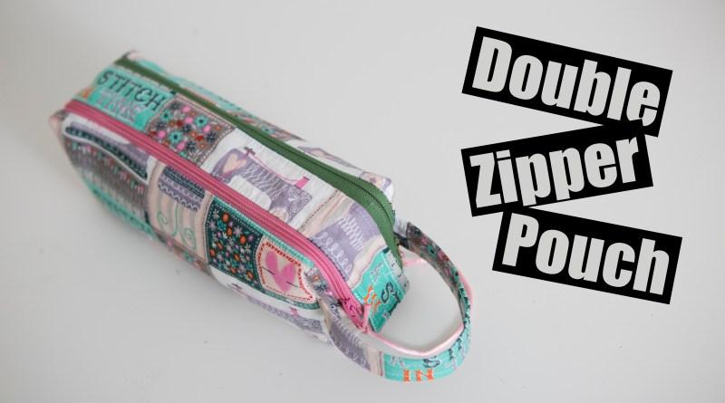 Double zipper box pouch