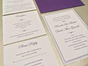 Brenda + Dave | Traditional Wedding Invitations