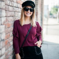 Burgundy Sweater   Charmed by Camille