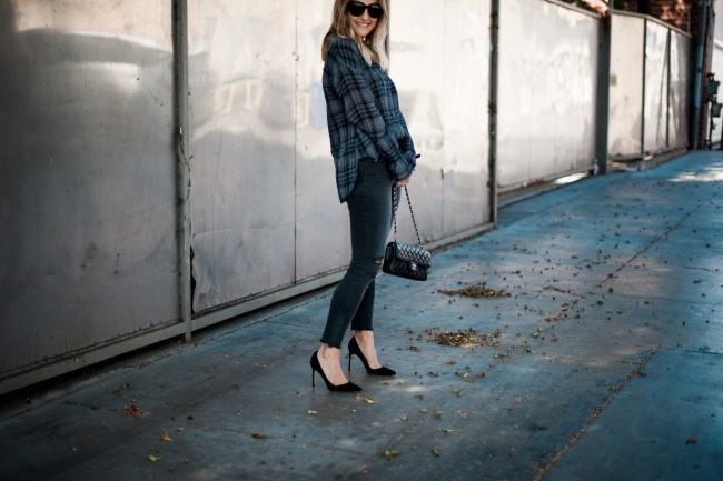 How to Dress up Plaid Shirt | Charmed by Camille