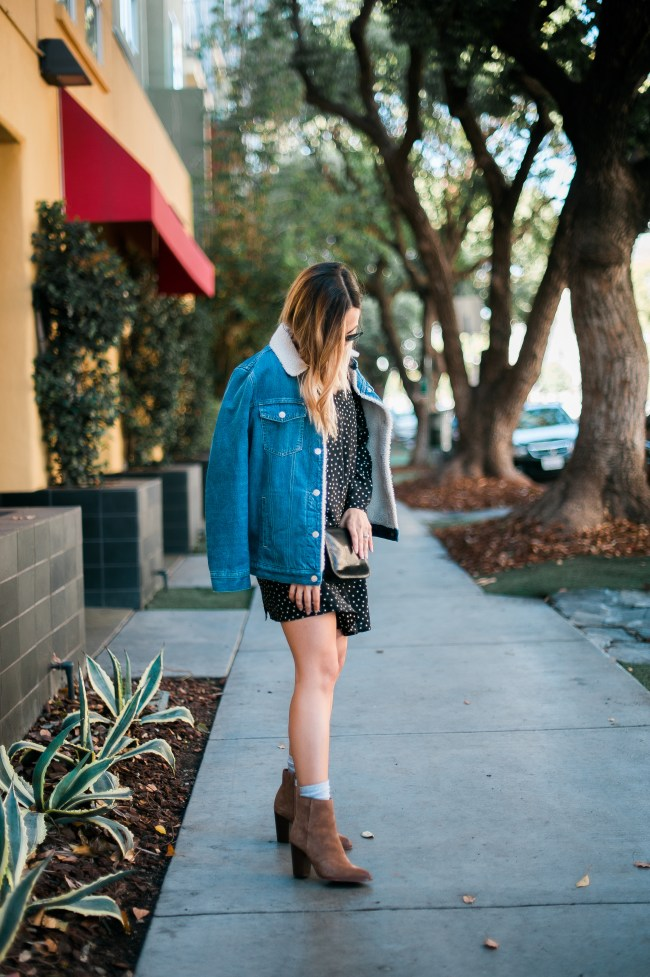 Sherpa Denim Jacket | Charmed by Camille