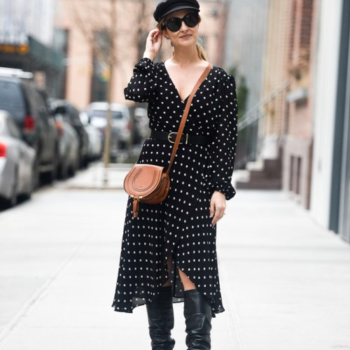Polka Dot Wrap Dress | Charmed by Camille