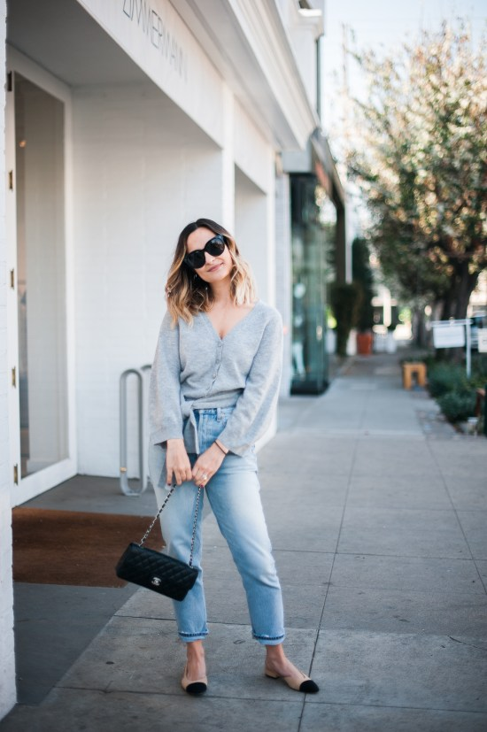 Gray Cashmere Sweater   Charmed by Camille