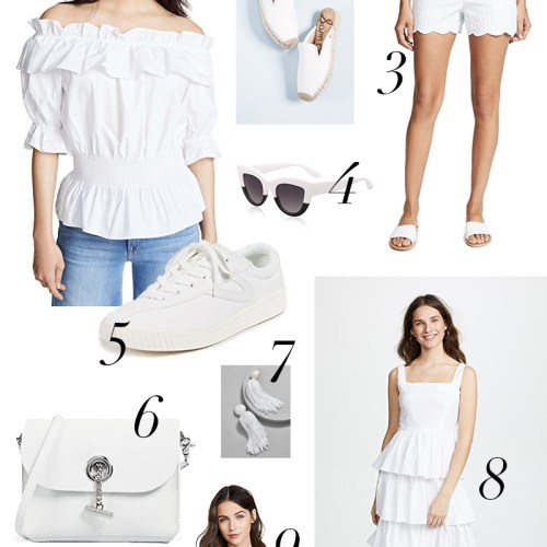 All White Clothing and Accessories Under $200