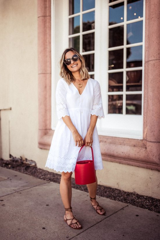 The Perfect Little White Dress for Summer | Charmed by Camille