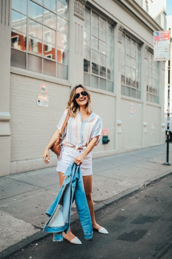 Striped Linen Shirt   Charmed by Camille