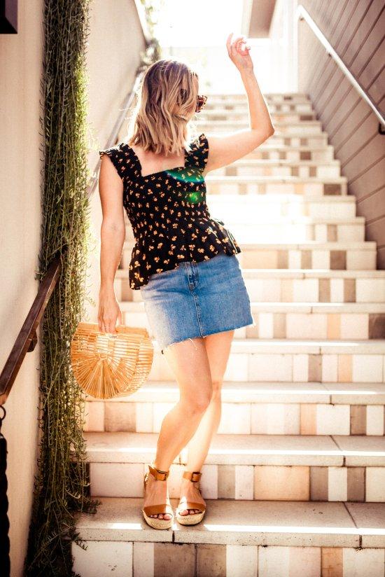 Denim Mini Skirt | Charmed by Camille