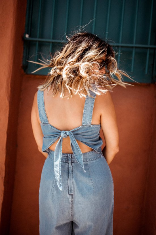 Denim Jumpsuit | Charmed by Camille