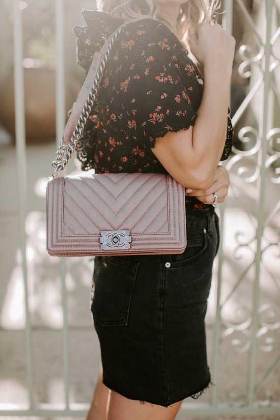 Pink Chanel Bag | Charmed by Camille