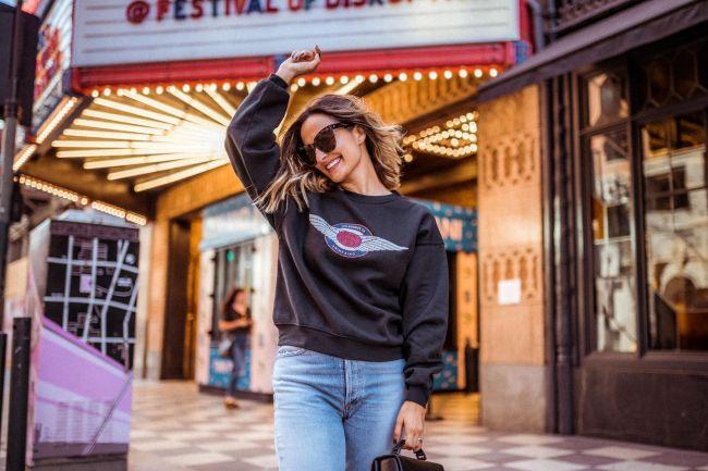 Anine Bing Sweatshirt - Off Duty Style | Charmed by Camille