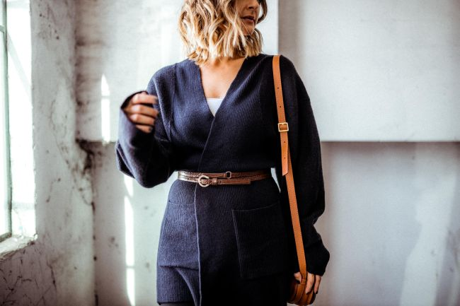 Something Navy Sweater | Charmed by Camille