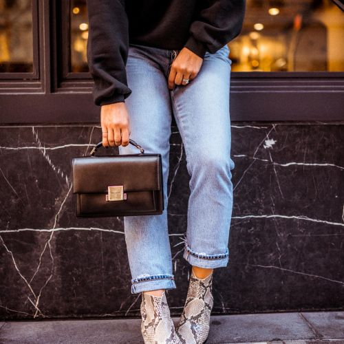Snakeskin Booties | Charmed by Camille