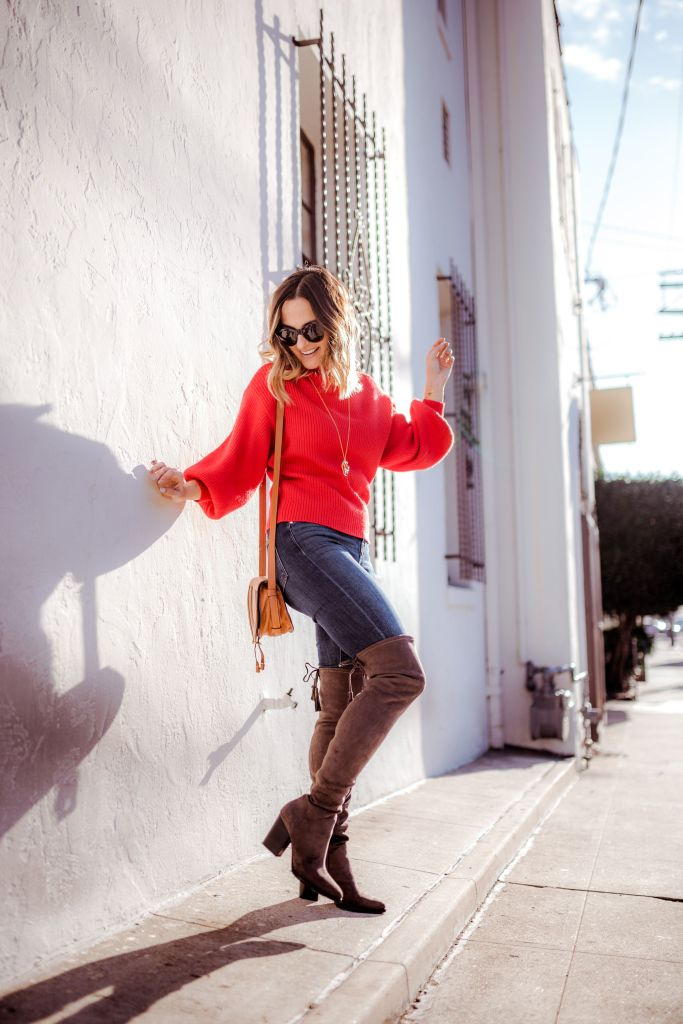 How to Style Over the Knee Boots | Charmed by Camille