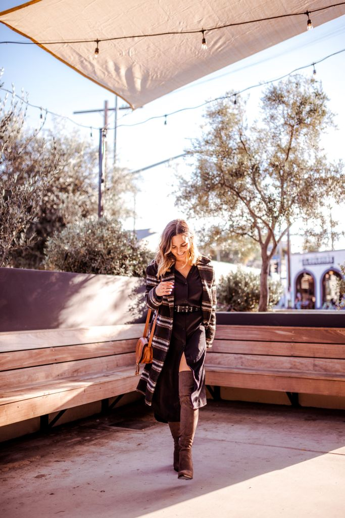 Midi Dress and Over the Knee Boots | Charmed by Camille