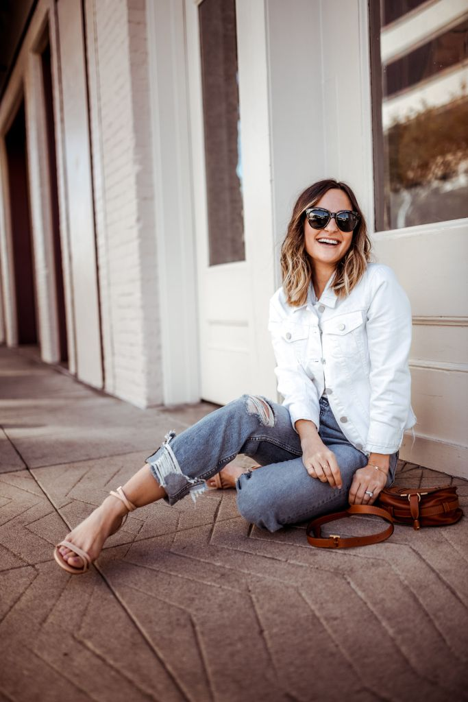 Transitional Spring Denim Outfit | Charmed by Camille