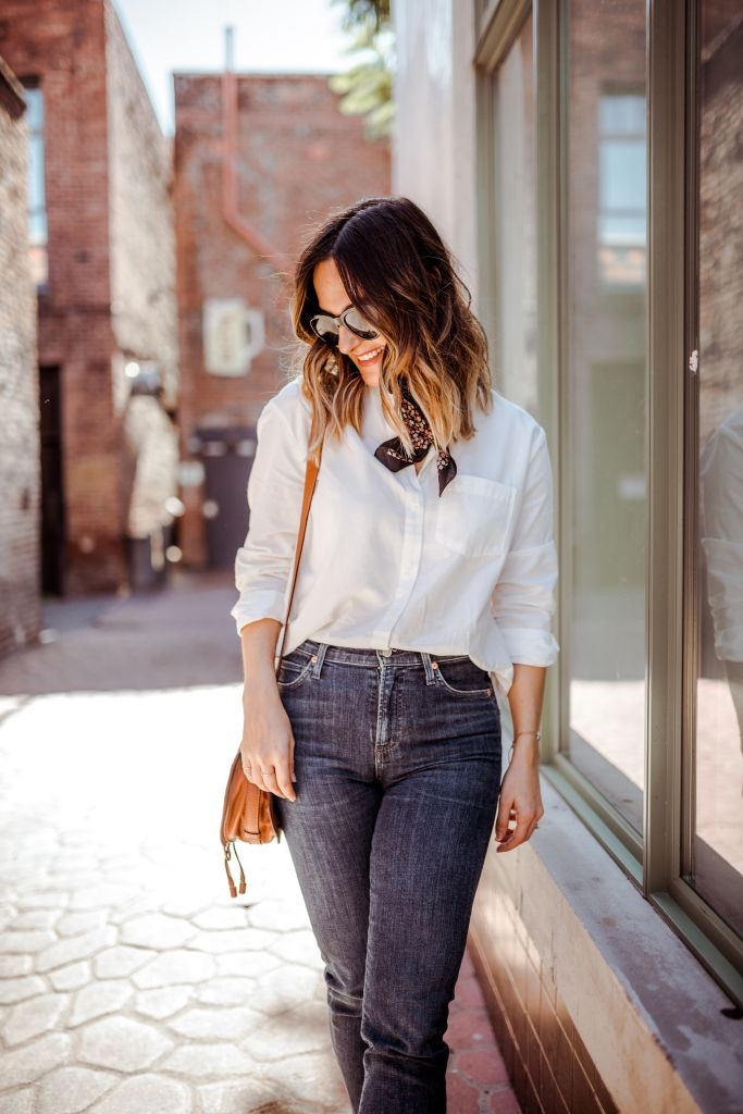 How to Wear a White Button Up Shirt | Charmed by Camille
