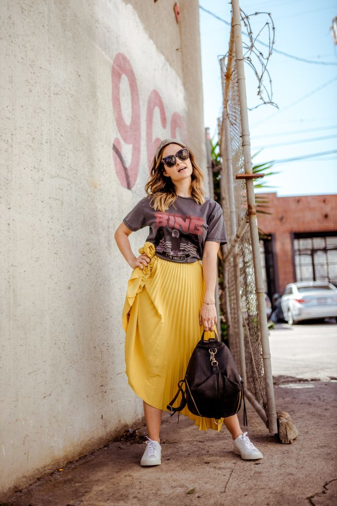 How to Style a Midi Skirt | Charmed by Camille