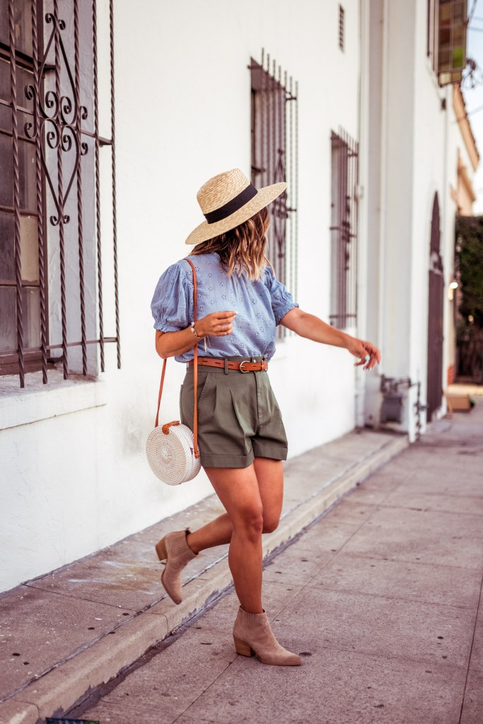 Olive Green Shorts | Charmed by Camille
