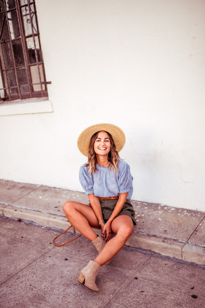 Summer Straw Hat Outfit | Charmed by Camille
