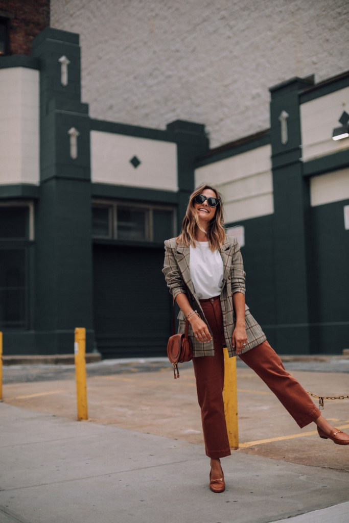 Plaid Blazer Outfit | Charmed by Camille