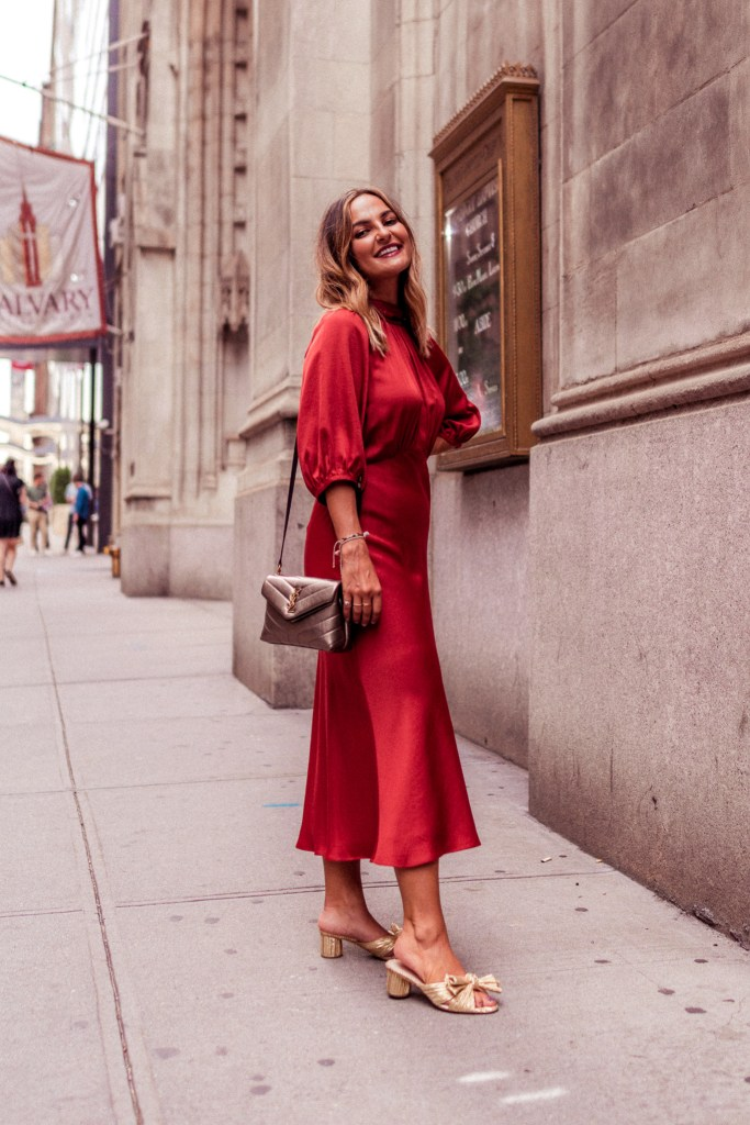 Rust Dress for Fall | Charmed by Camille