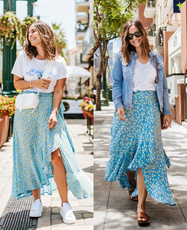 Floral Midi Skirt, One Piece Two Ways | Charmed by Camille